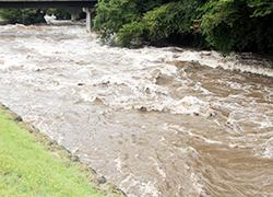 洪水被害の様子